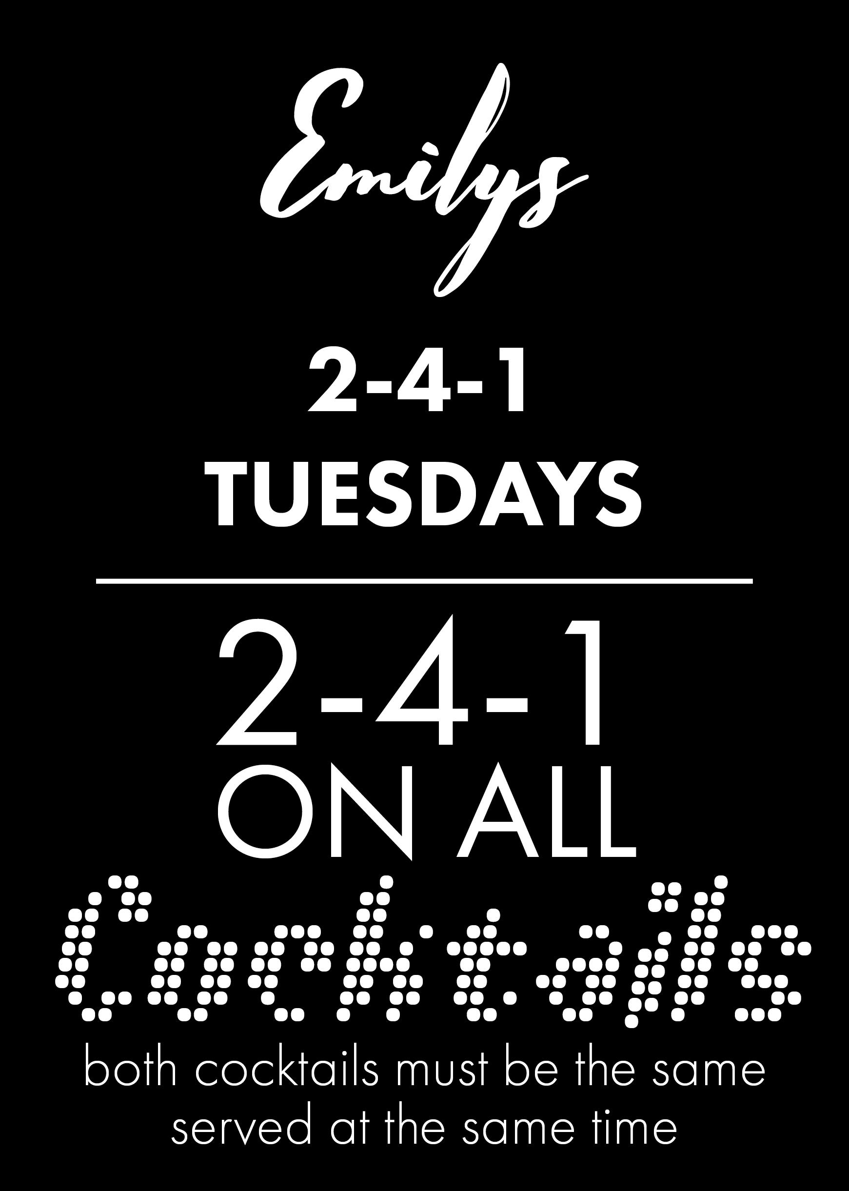 2-4-1 Tuesdays